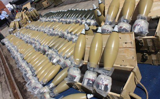 חלק מהנשק שנתפס על ספינת הנשק האירנית קלוז סי