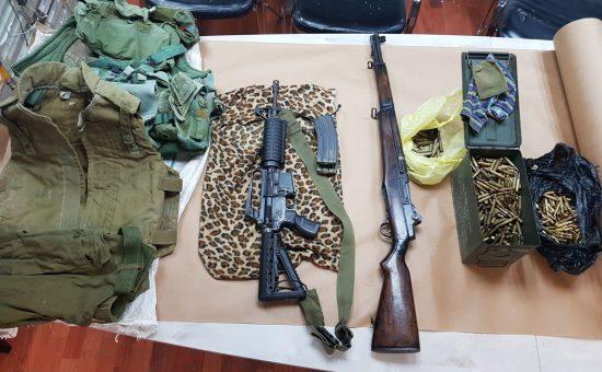 חלק מהנשק שנתפס