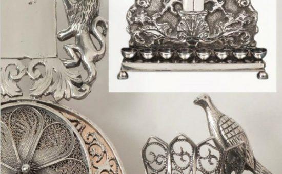 חנוכיה לי יש - תערוכת חנוכיות מוזיאון נחום גוטמן - רוסיה המאה 19. צילום אסף ורן ארדה
