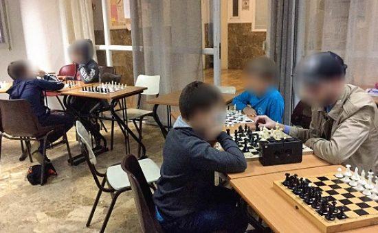 ילדים בחוג השחמט של יד לאחים, צילום יד לאחים