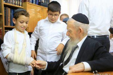 מירושלים לבני ברק: הילדים ביקרו אצל גדולי ישראל