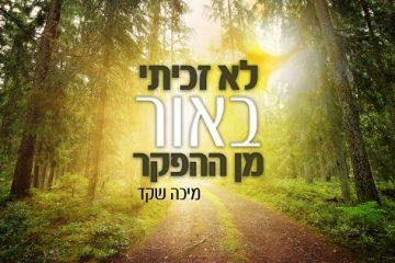 מיכה שקד בפיוט ישראלי: לא זכיתי באור מן ההפקר