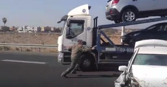 בנשקים שלופים: צפו בתיעוד הדרמטי ממרדף ממשטרתי