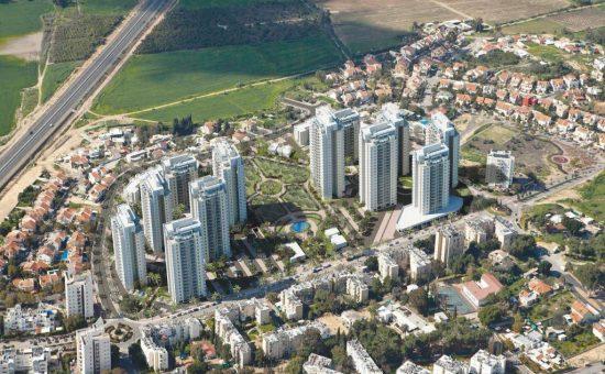מבט מלמעלה של פרויקט מערב רחובות של אביסרור