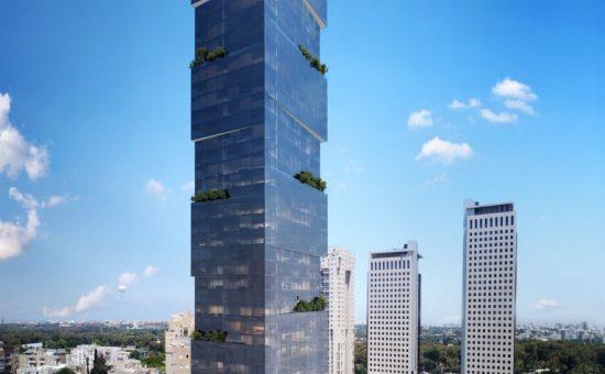 מגדל בתכנון מילוסלבסקי אדריכלים בבן גוריון יום קרדיט הדמייה OLIN