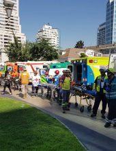 """מד""""א בתרגיל אירוע רב נפגעים בצ'ילה"""