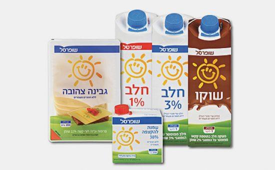 מוצרי החלב החדשים של שופרסל