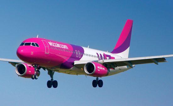 מטוס של חברת wizzair