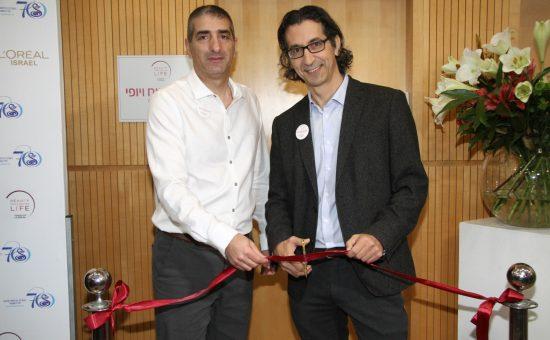 מימין: אלי שגיב ופרופסור יצחק קרייס   צילום: אסף לב