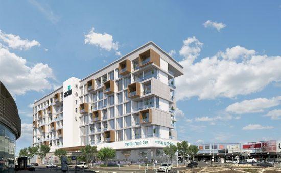 מלון במתחם מבנה בבאר שבע בתכנון מרש אדריכלים קרדיט הדמייה אול אין 2