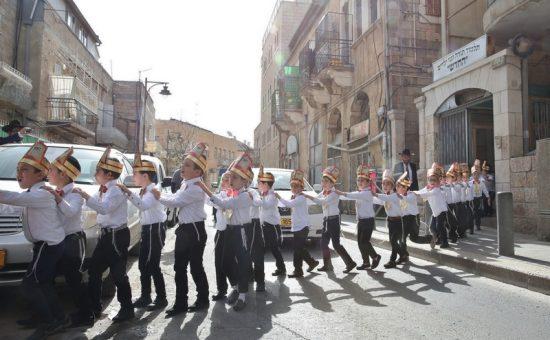 מסיבת סידור בתלמוד תורה החדש בירושלים, צילום יעקב כהן (5)