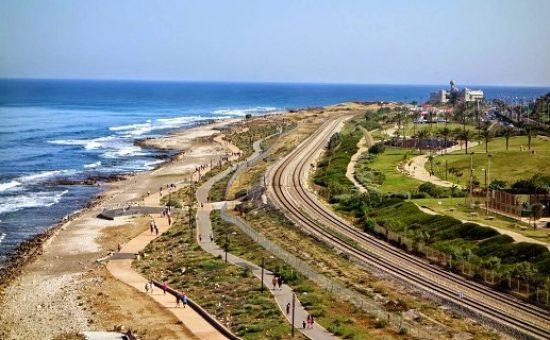 מסילות רכבת בקו החוף