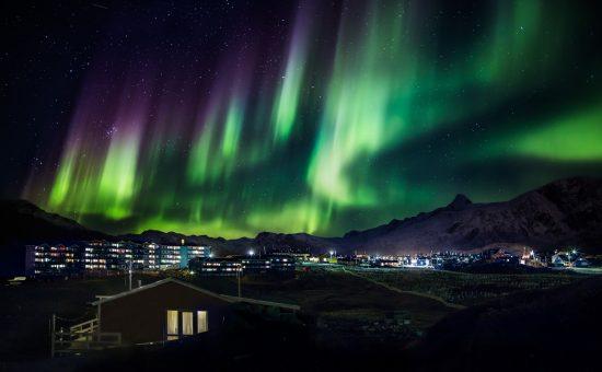 מראה מרהיב של האי גרינלנד
