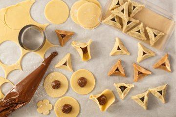 אוזני המן מבצק חמאה פריך מוכנים לאפייה בבית