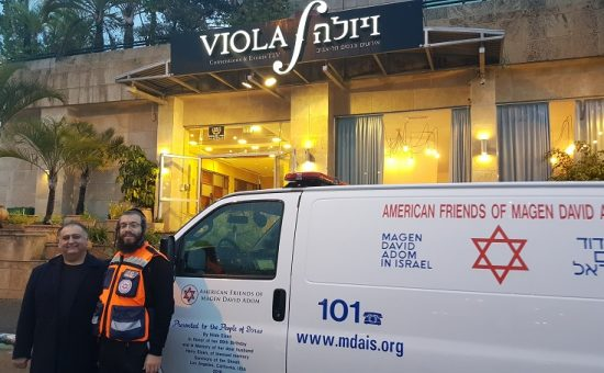 מתנדב מדא אריה פרקש ויצחק פולידאן - צילום דוברות מדא (1)