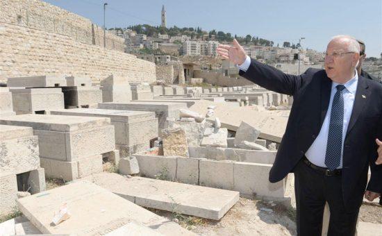 """נשיא המדינה רובי ריבלין בסיור בהר הזיתים. צילום: מארק ניימן,, לע""""מ"""