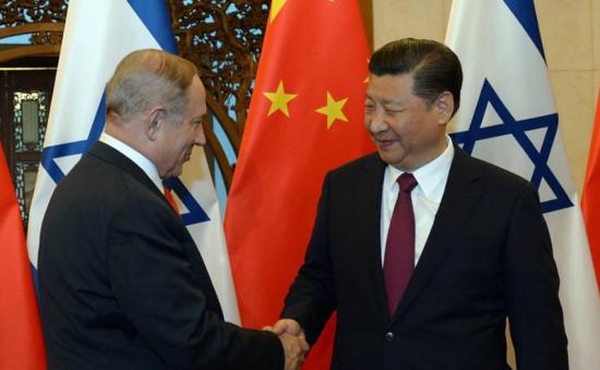 נתניהו ונשיא סין - חיים צח לעמ