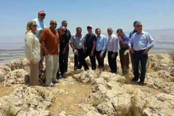 משלחת אמריקנית למיפוי השטחים הגיעה לישראל