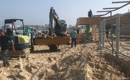 עבודות בחוף הרצליה (1)
