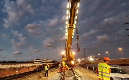 עבודות תשתית להעתקת תוואי מסילה