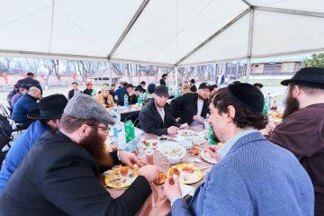 גלריה: מאות הגיעו לעיירה ליובאוויטש