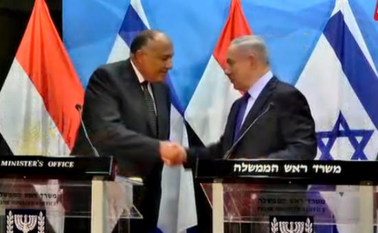 ראש הממשלה בנימין נתניהו ושר החוץ המצרי