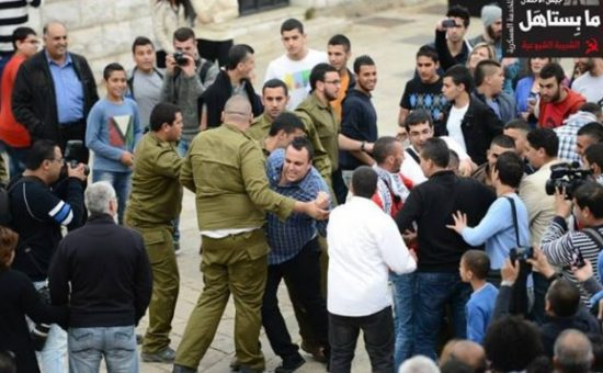 ערביי ישראל בעצרת נגד גיוס בנצרת