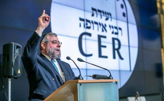 עת לעשות. הגרפ גולדשמידט נושא דברים על עתיד יהודי אירופה בועידה במינסק