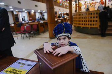 יום הפורים בבית הכנסת המרכזי בבירת רוסיה