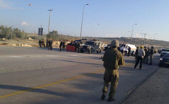 """פיגוע במחסום אליהו ביו""""ש. צילום: רשות המעברים משרד הביטחון"""