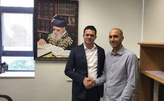 """מנכ""""ל פנגו רועי אלבז וחבר מועצת העיר ירושלים פיני עזרא"""