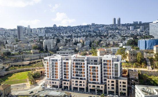 פרויקט הרובע של חברת גולדן ארט בחיפה זווית רחבה קרדיט צילום – Mike Tat Photography