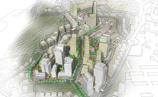 פרויקט התחדשות עירונית במרכז בית שמש של קבוצת נתיב פיתוח | קרדיט הדמייה: משרד אדריכלים עדן בר