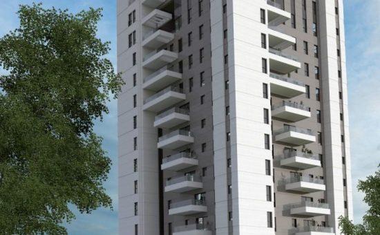 פרויקט משכנות נחלים של חברת משהב בפתח תקווה קרדיט הדמייה גל מצליח אדריכלים