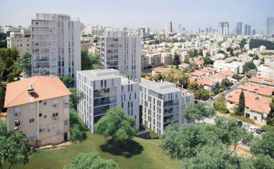 פרויקט פינוי בינוי המרי ניצנה בגבעתיים של חברת דוניץ קרדיט הדמייה דני קייזר אדריכלים