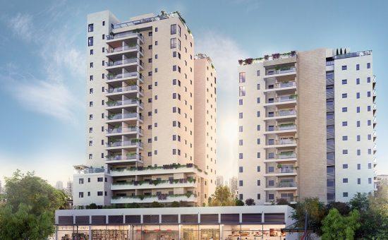 פרויקט viewשל יוסי אברהמי בדרום תל אביב קרדיט הדמייה וויופוינט