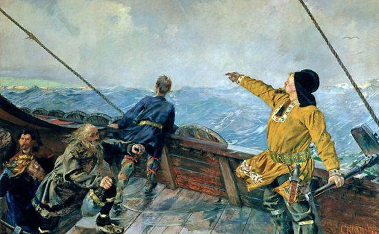 ציור המסע של לייוו אייריקסון הווייקינגי