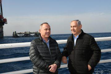 בלב ים: ראש הממשלה חנך את 'לוויתן'