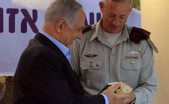 """ראש הממשלה נתניהו והרמטכ""""ל גנץ במועצה אזורית אשכול. צילום: קובי גדעון, לע""""מ"""