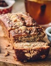 מתכון עוגת דבש וקרמבל תפוחים
