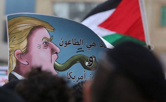 קריקטורות ותמונות - העולם הערבי מגיב לטראמפ (26)