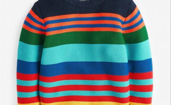 קשת - סוודר עם פסים צבעוניים NEXT