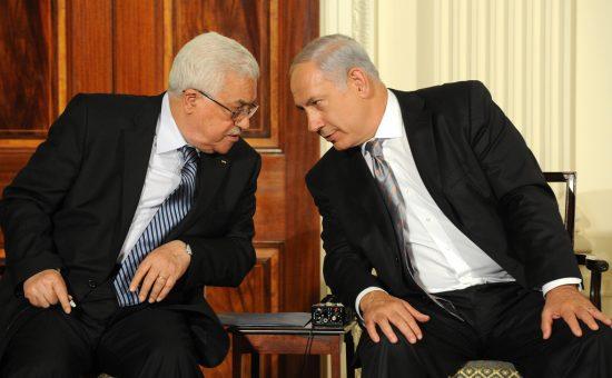 ראש הממשלה בנימין נתניהו ונשיא הרשות הפלסטינית אבו מאזן צילום משה מילנר לעמ (4)