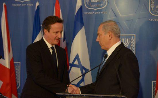 """בנימין נתניהו עם ראש ממשלת בריטניה דיוויד קמרון. צילום: עמוס בן גרשום, לע""""מ"""