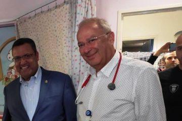 ראש העיר הפתיע: משלוח מנות בבית חולים