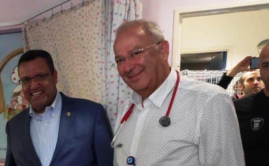 ראש עיריית ירושלים משה ליאון בביקור