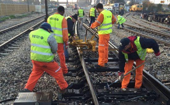 אילוסטרציה: עבודות במסילת הברזל. צילום: רכבת ישראל