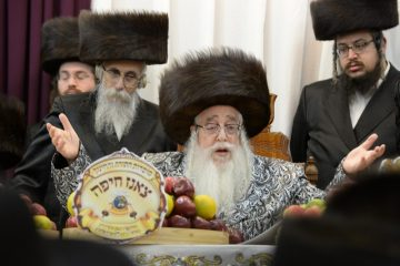 """תיעוד: צאנז חגגה עם האדמו""""ר בחיפה"""
