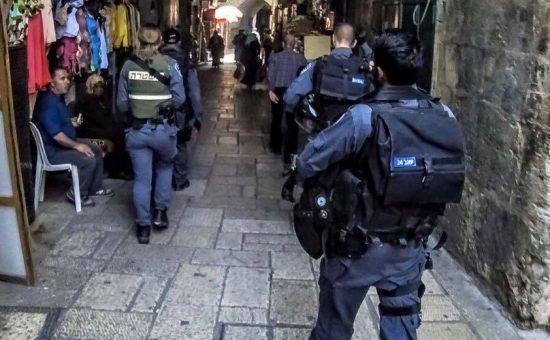 שוטרים בעיר העתיקה בירושלים - אילוסטרציה . (צילום: משטרת ישראל)
