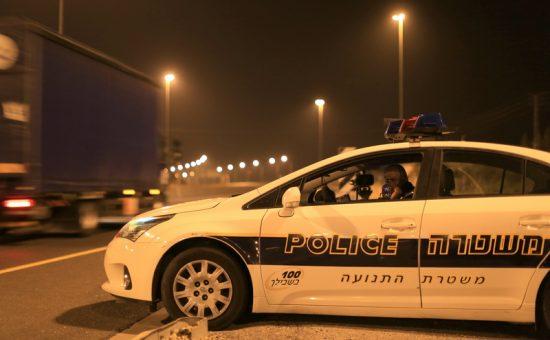 שוטר תנועה במארב לייזר. צילום: צילום אור ירוק